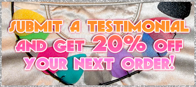 Submit a testimonial and get 20% off!