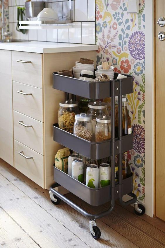 Cómo aprovechar espacio en una cocina pequeña