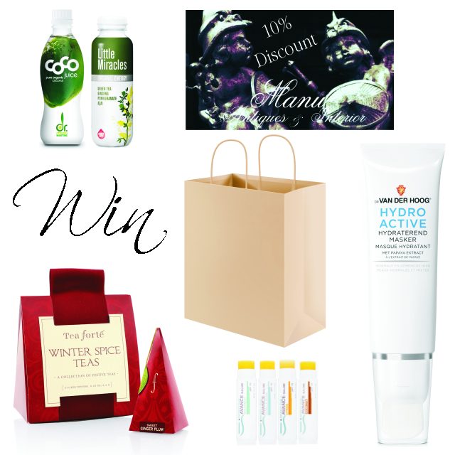 Win one of 50 Deluxe La Vie Fleurit Holiday Goody-Bags. Including; Dr. van der Hoog, Infinity Sun, Manu Antiques, Tea Forte, Coco Juice, Little Miracle. Full of Fashion, Beauty, Lifestyle, Luxury, Jewerly, Accessories, Food & Beverages!