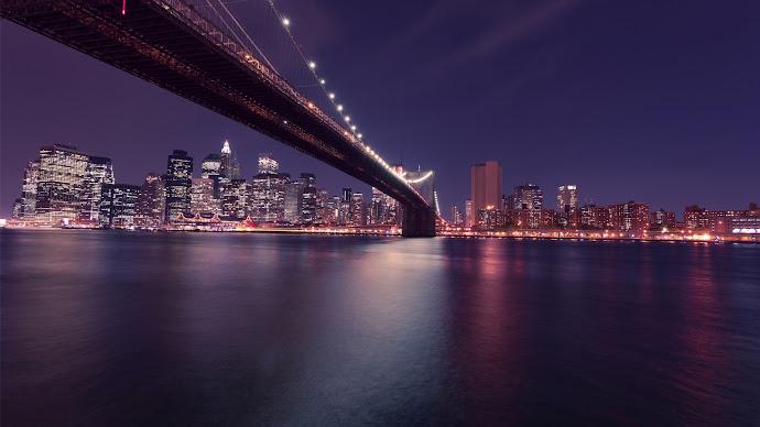 Wallpaper: New York Cityscape. Brooklyn Bridge
