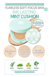 Cushion Untuk Tipe kulit wajah berminyak, Peripera Inklasting Mint Cushion (Review)