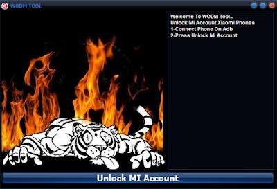 bypass micloud mi 6x dengan wodm tool unlock mi account