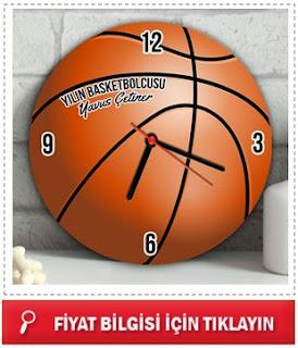 Kişiye Özel Basketbol Topu Duvar Saati