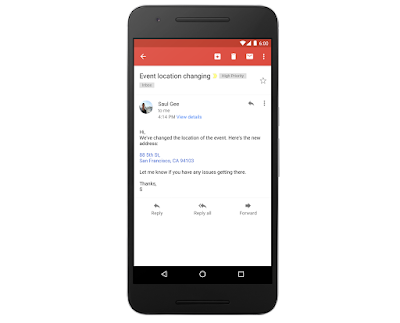 Gmail يضيف ميزة تحويل أرقام الهواتف والعناوين إلى الروابط