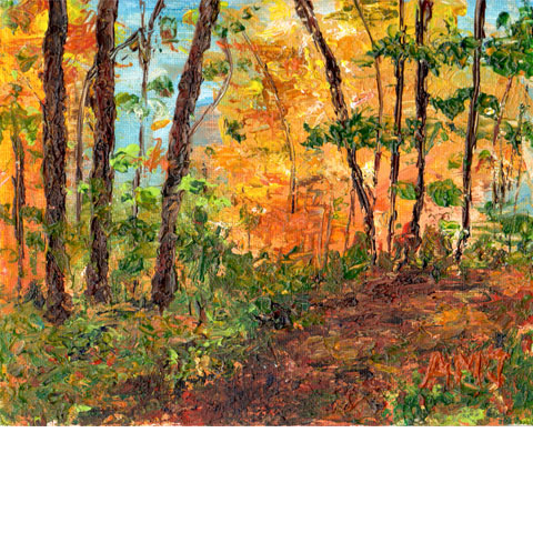 "Komoka in the Fall- 5""x7"" Art card"