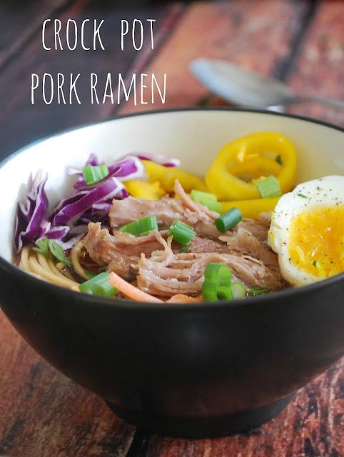 Slow Cooker Pork Ramen - Super easy and super amazing!
