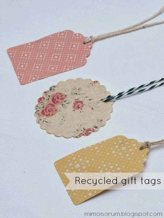DIY: Recycled gift tags