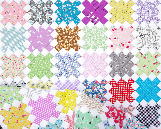 Single Irish Chain Scrap Quilt - A Finished Quilt | Red Pepper Quilts 2015