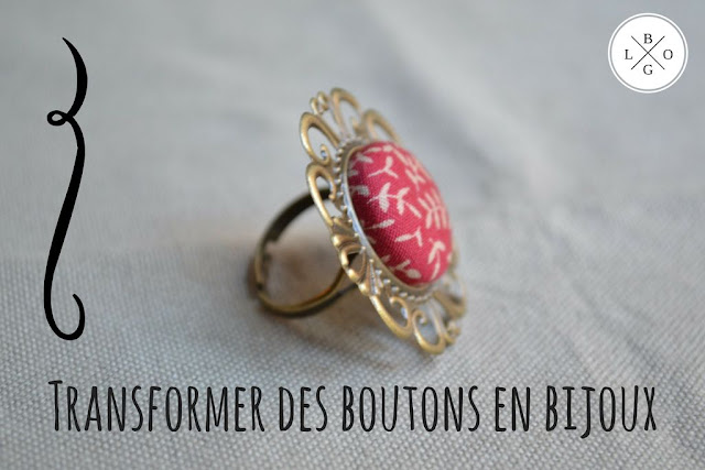 transformer des boutons en bijoux
