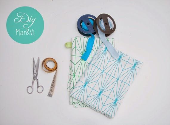 cómo hacer un delantal con un paño de cocina