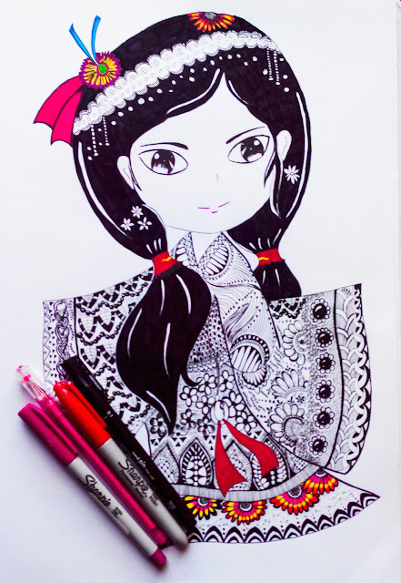 Zentangle - art - sketch - drawing