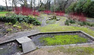 The abandoned Crazy Golf course in Stalybridge