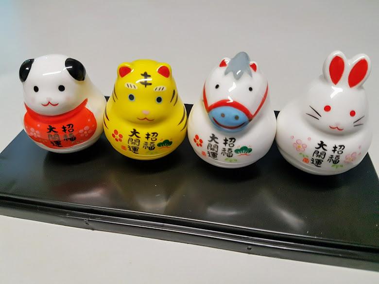 開運陶瓷,四隻剛好代表家人的生肖