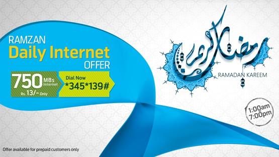 ramzan daily internet offer