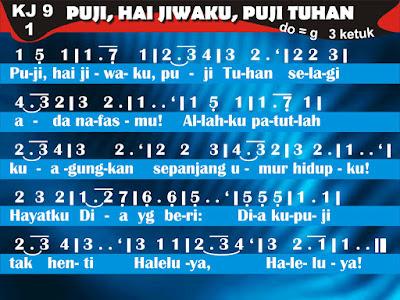 Kord Gitar Kidung Jemaat 9 Puji Hai Jiwaku Puji Tuhan
