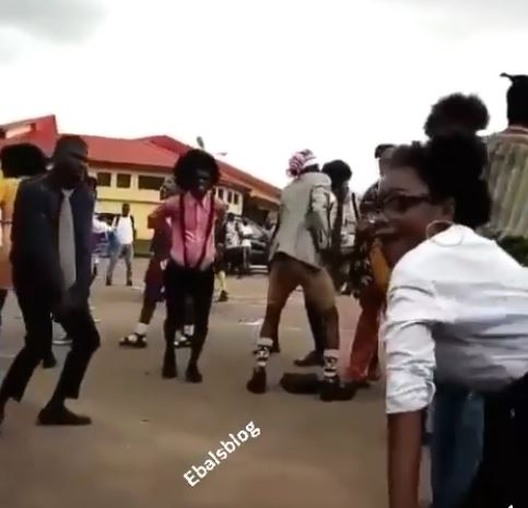 "Video:UniBen students marking Old School day in a ""special way"