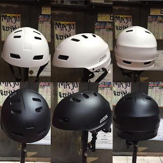 Helm Sepeda Mxl SK106 size 53-60cm Black White