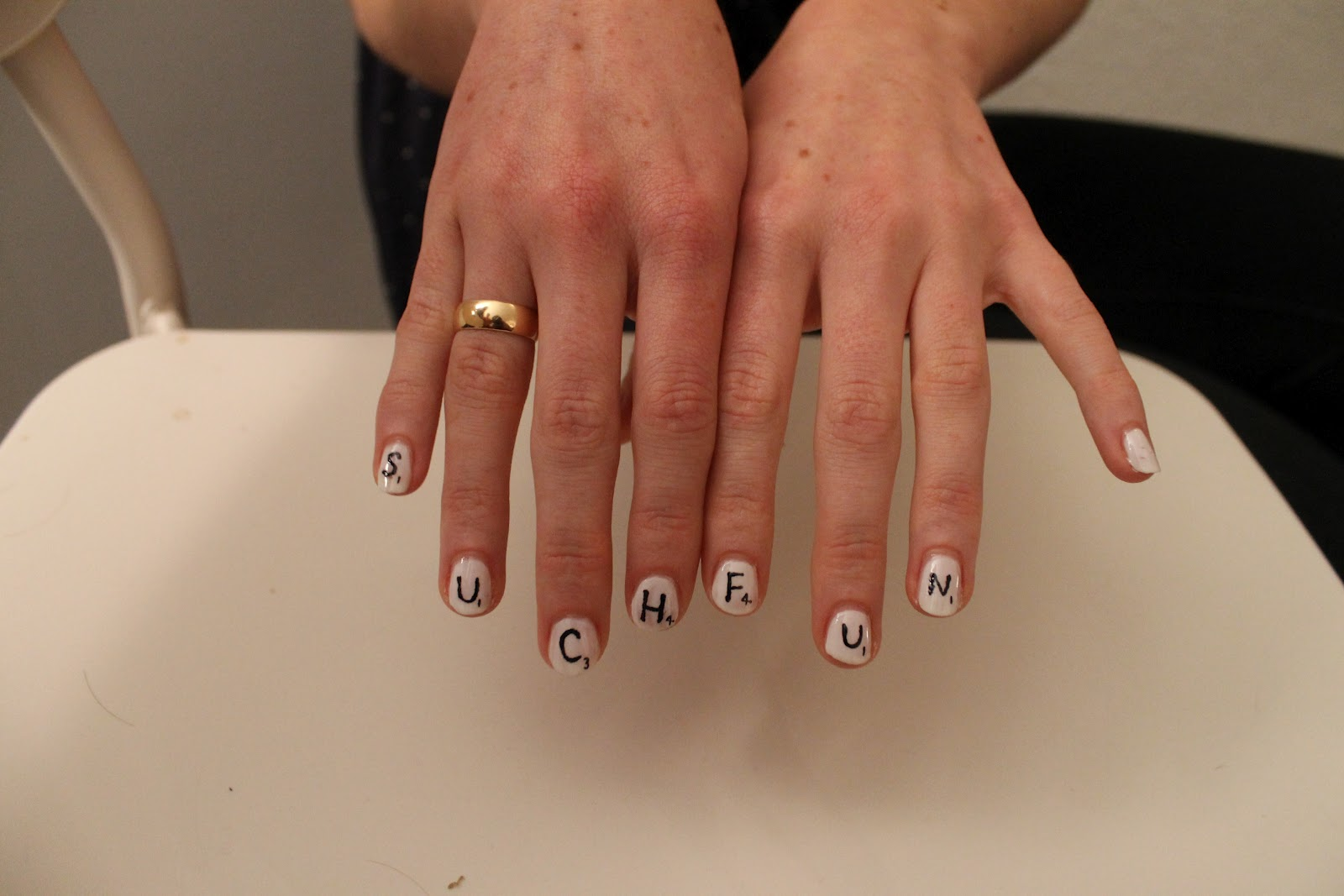 Beaux Ongles: 'Such Fun' Scrabble Nails