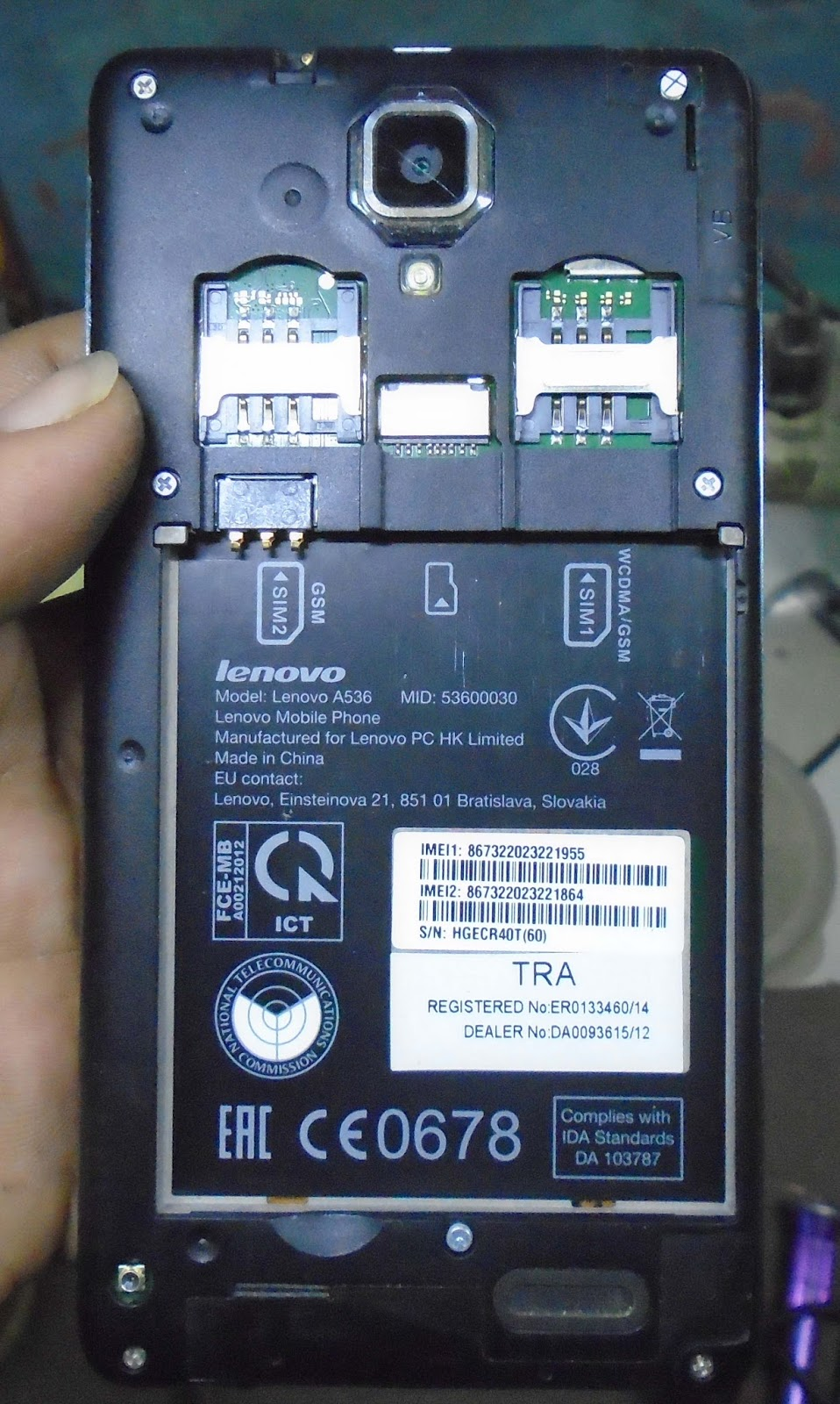 Lenovo a536 firmware without password free download.
