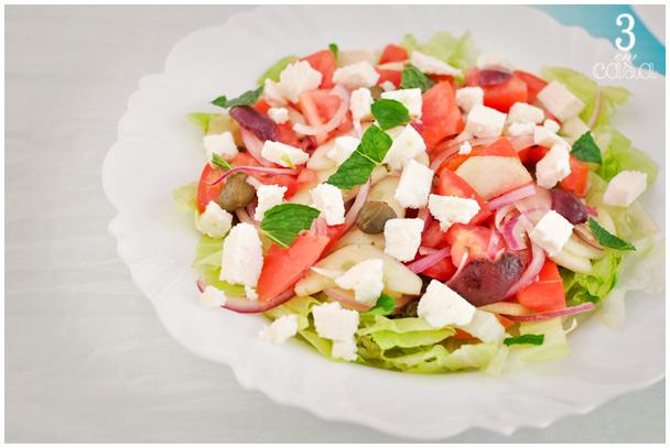 salada grega receita