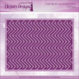 Divinity Designs Custom Chevron Background Die