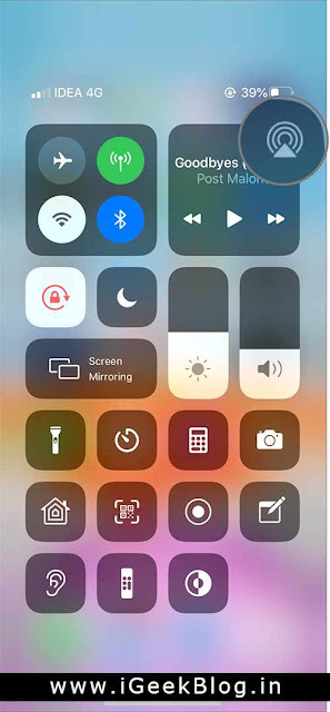 How to share audio in iPhone