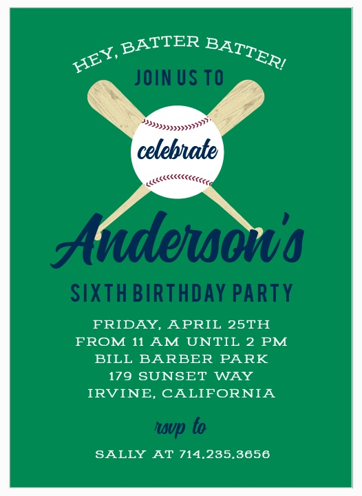 Sports-Themed Birthday Invitation