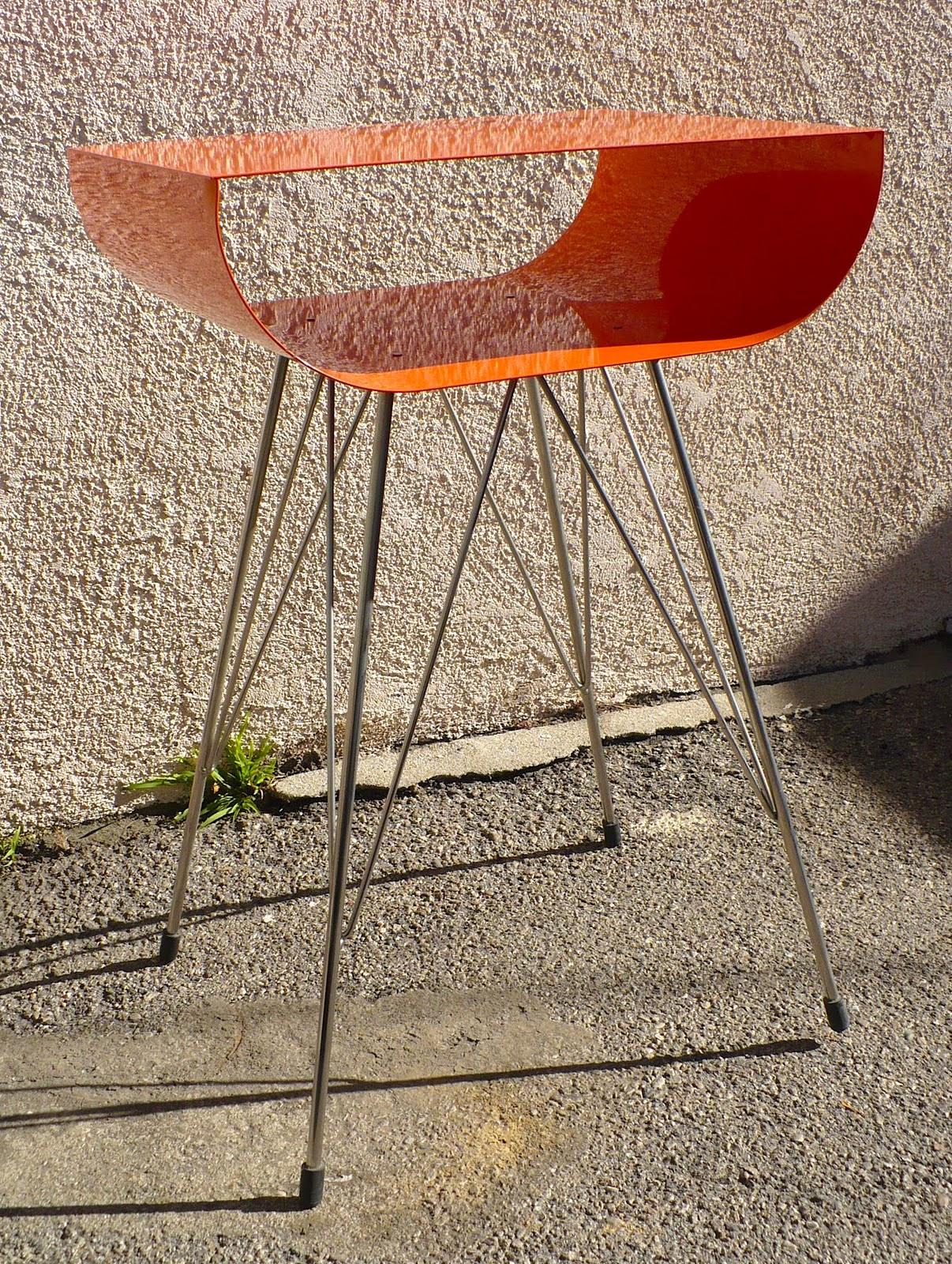 Mod A Rama Atomic Mid Century Modern Design Orange Metal