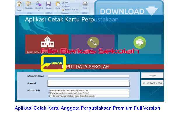 Aplikasi Cetak Kartu Anggota Perpustakaan Premium Full Version