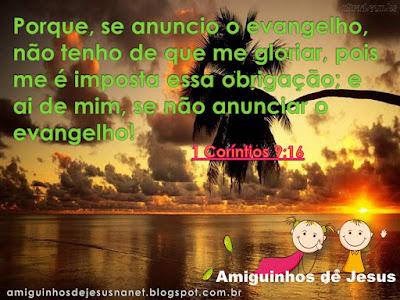 Versículo - 1 co. 9:16