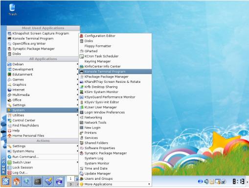 Membuka Terminal Konsole di KDE (Semua Ada -BeHangat)