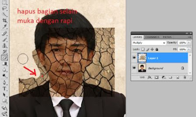 tutorial efek retak photoshop