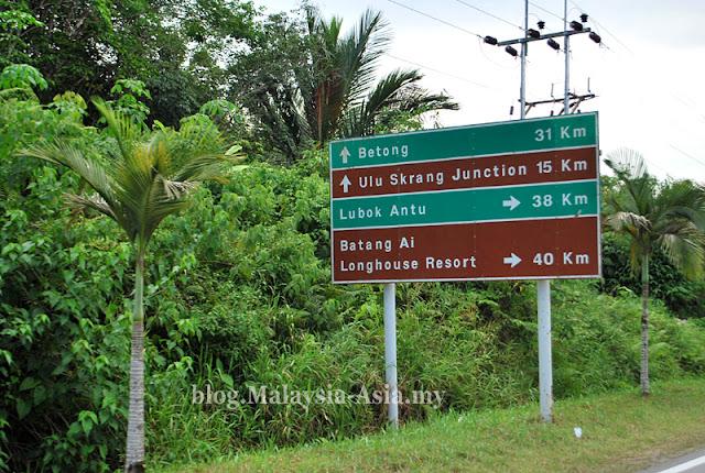 Signs PAN Borneo Highway Sarawak