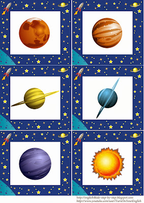 alien space flashcards for teaching english
