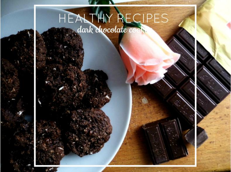 Healthy recipes: dark chocolate cookies