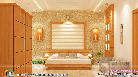 Bedroom interior by Criztal Interiors