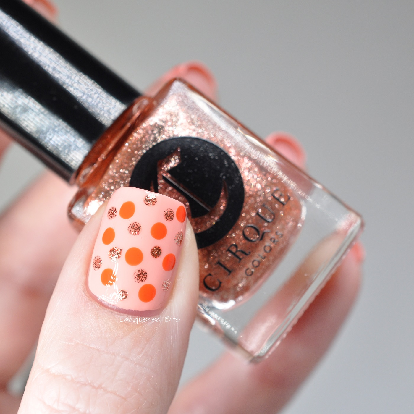 Coral Dotticure With Cirque Colors