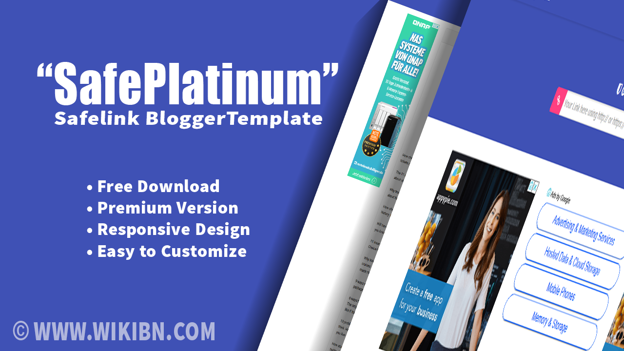 [WIKIBN] Safeplatinum Safelink Blogger template