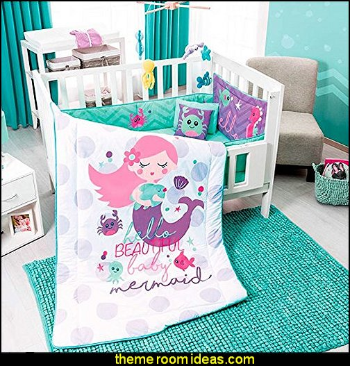 LITTLE MERMAID BABY GIRLS CRIB BEDDING SET