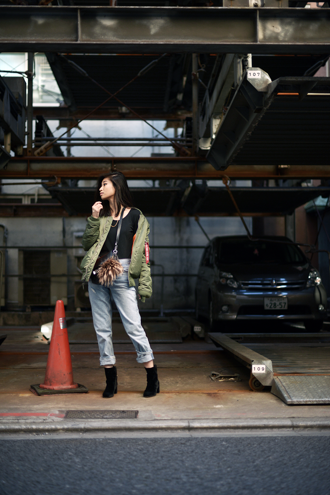 FOREVERVANNY Alpha Industry MA-1 Bomber Jacket and M Gemi Velvet Corsa Ankle Boots