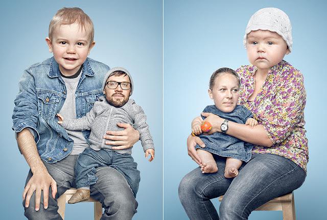Большие дети-маленькие родители – фотоманипуляции by Paul Ripke