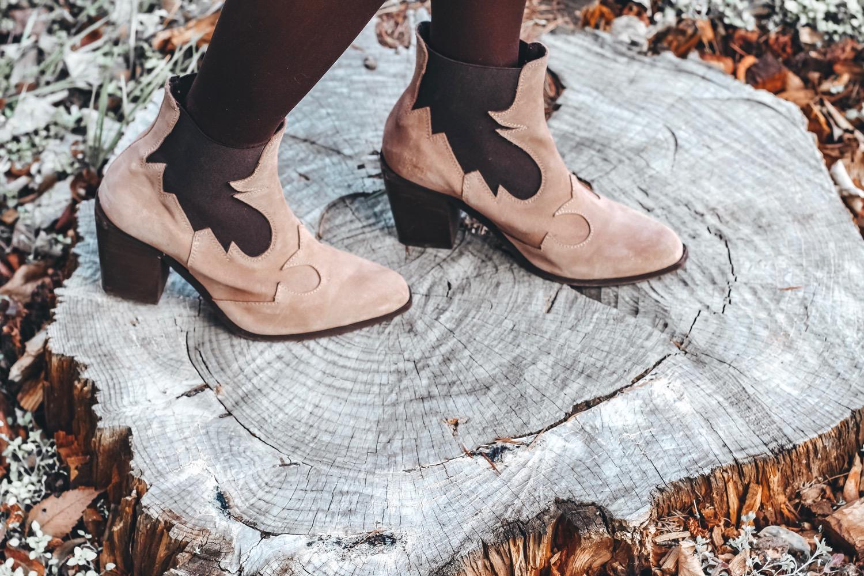 botines estilo cowboy mujer