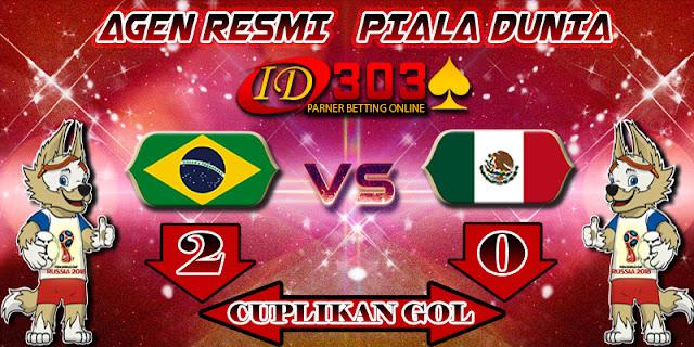 CUPLIKAN GOL  BRAZIL 2 - 0 MEXICO