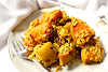 Roasted Squash with Rice and Lime Pickle