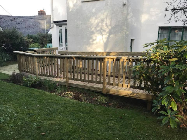 Wheel chair access decking