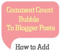 Tạo hiển thị tổng số bài viết và comments cho blogspot