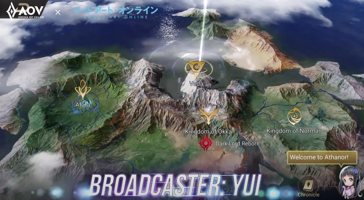 Yui hadir sebagai broadcaster AOV