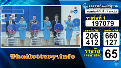 Thailand Lottery Result 17 January 2019 Live Streaming Online
