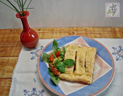 Hojaldre Vegano de Tofu, Champiñones y Puerro.