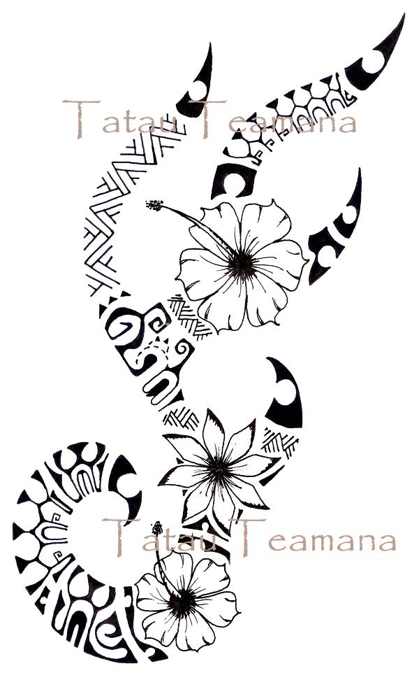 tatau tattoo tatouage de teamana novembre 2011. Black Bedroom Furniture Sets. Home Design Ideas